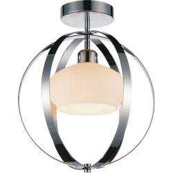 CWI Lighting Dahlia 12 inch 1 Light Flush Mount with Chrome Finish