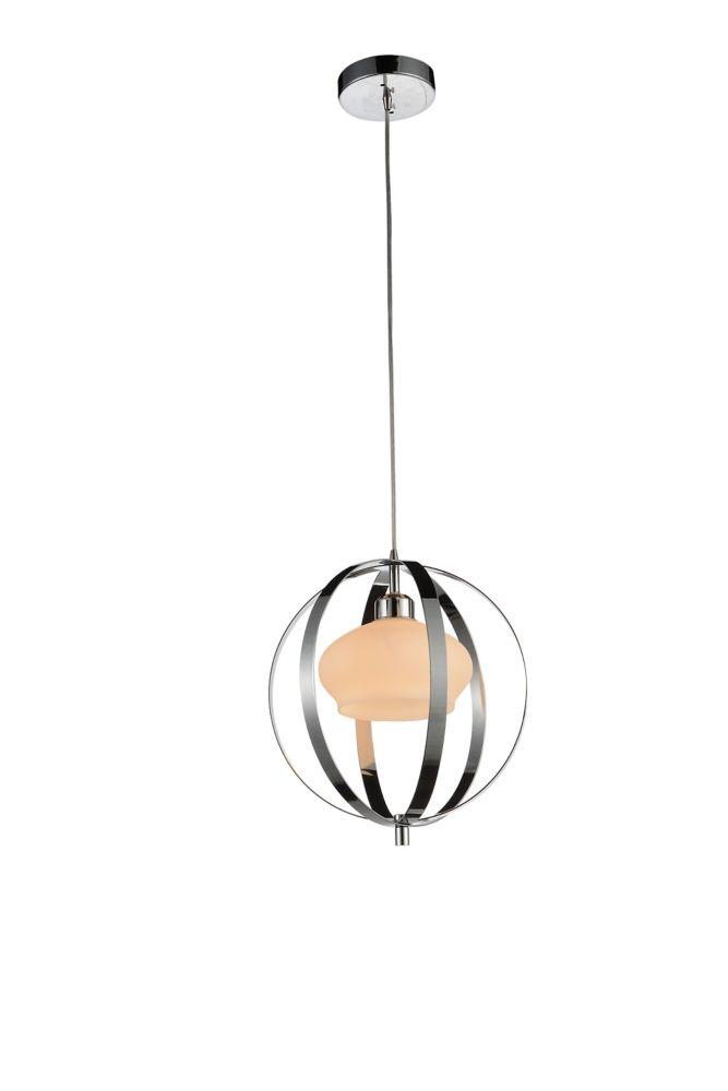 CWI Lighting Dahlia 12 inch Single Light Mini Pendant with Chrome Finish