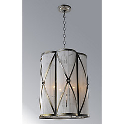 Diana 16 inch 4 Light Chandelier with Antique Brass Finish