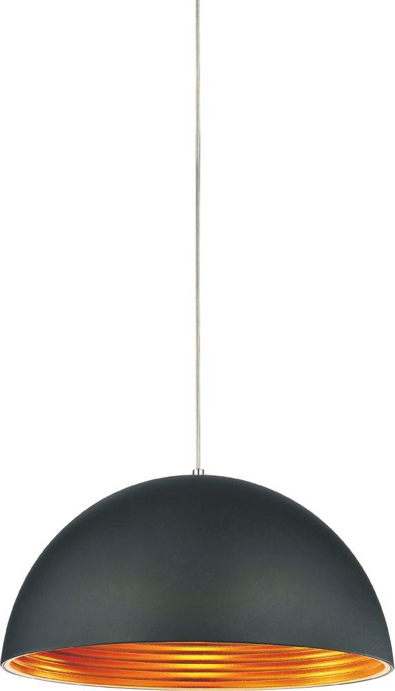 CWI Lighting Modest 16-inch 1-Light Black Chandelier