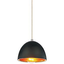 Modest 7 inch 1 Light Mini Pendant with Black Finish