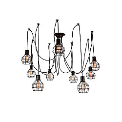 Secure 31 inch 9 Light Chandelier with Chocolate Finish