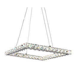 Ring 20 inch LED Chandelier with Chrome Finish From