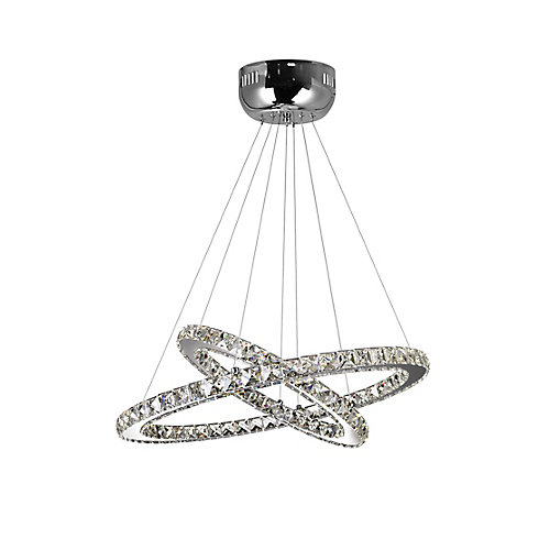 Ring 24-inch LED Chandelier with Chrome Finish