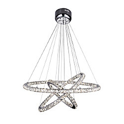 Ring 32 inch LED Chandelier with Chrome Finish
