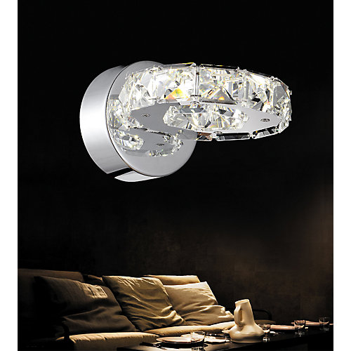 Ring 8 inch LED Wall Sconce with Chrome Finish