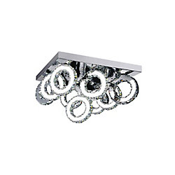 Ring 24 inch LED Flush Mount with Chrome Finish From