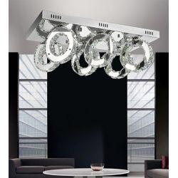CWI Lighting Ring 24 inch LED Flush Mount with Chrome Finish