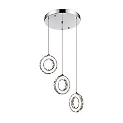 Ring 16 inch LED Chandelier with Chrome Finish