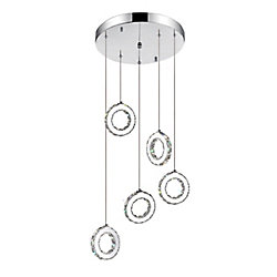 Ring 20 inch LED Chandelier with Chrome Finish