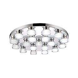 CWI Lighting Paulina 28-inch LED Flush Mount with Chrome Finish