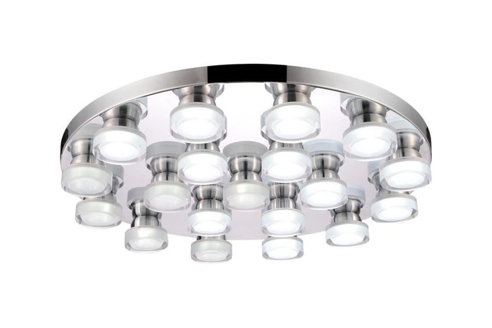 CWI Lighting Paulina 28-inch LED Flush Mount with Chrome Finish