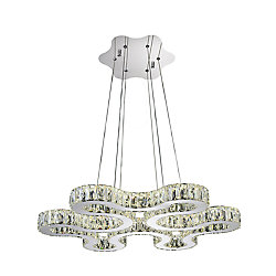 Odessa 27 inch LED Chandelier with Chrome Finish