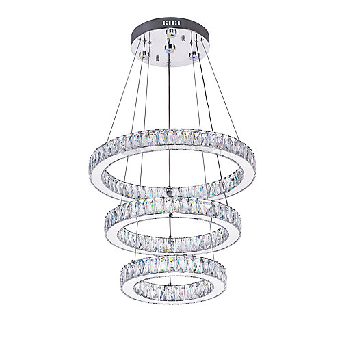 Florence 20-inch LED Chandelier with Chrome Finish