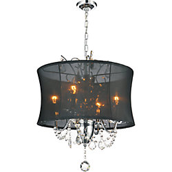 Charlotte 16-inch 4 Light Chandelier with Chrome Finish