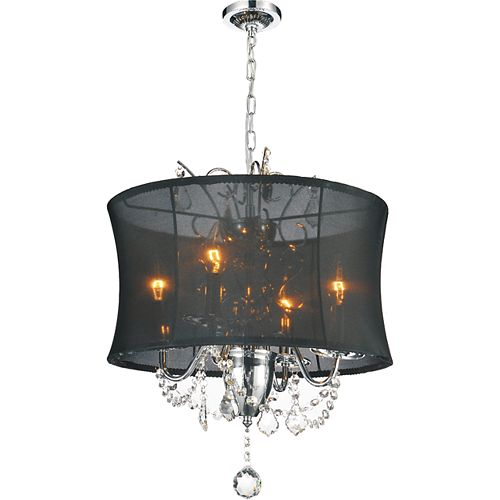 CWI Lighting Charlotte 16-inch 4 Light Chandelier with Chrome Finish