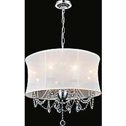 Charlotte 16 inch 4 Light Chandelier with Chrome Finish
