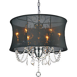 Charlotte 20-inch 6 Light Chandelier with Chrome Finish