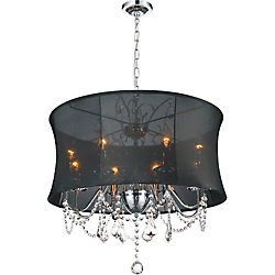 CWI Lighting Charlotte 24-inch 8 Light Chandelier with Chrome Finish