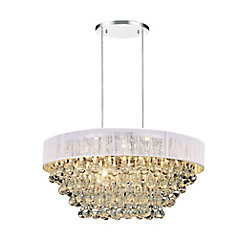Atlantic 22 inch 8 Light Chandelier with Chrome Finish