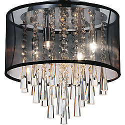 Renee 13 inch Four Light Flush Mount with Chrome Finish