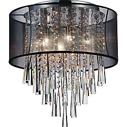 Renee 19 inch Eight Light Flush Mount with Chrome Finish