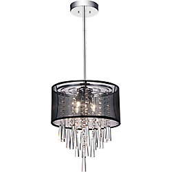 Renee 13 inch Four Light Mini Pendant with Chrome Finish