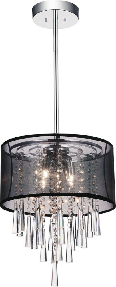 CWI Lighting Renee 13 inch Four Light Mini Pendant with Chrome Finish
