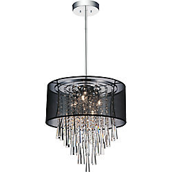 Renee 17 inches Six Light Chandelier with Chrome Finish