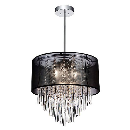 CWI Lighting Renee 19 inches Six Light Chandelier with Chrome Finish