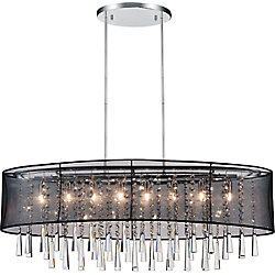 Renee 36 inch 8 Light Chandelier with Chrome Finish