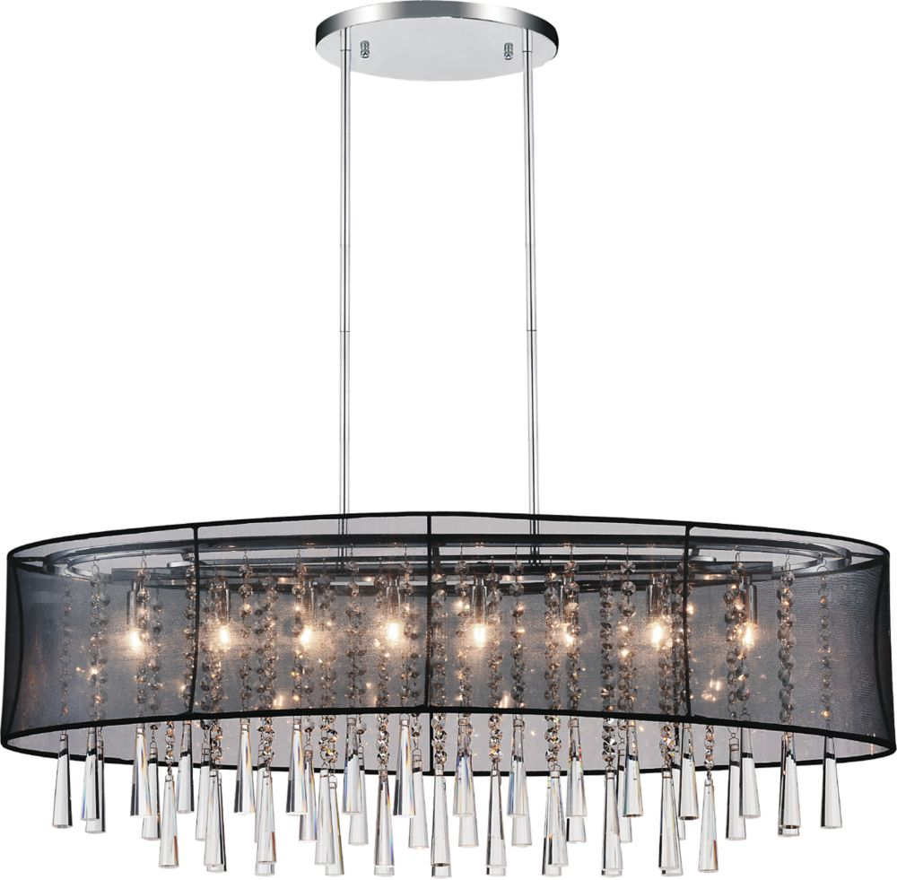 CWI Lighting Renee 36 inch 8 Light Chandelier with Chrome Finish