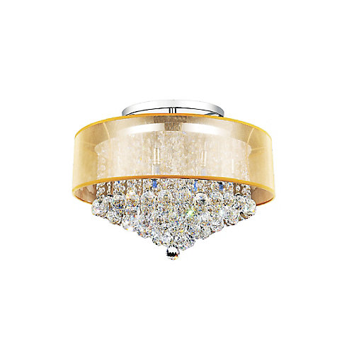 Radiant 24 inch 12 Light Flush Mount with Chrome Finish