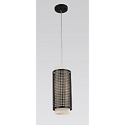 Checkered 5 inch 1 Light Mini Pendant with Black Finish