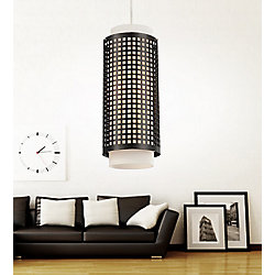 Checkered 6 inch 1 Light Mini Pendant with Black Finish