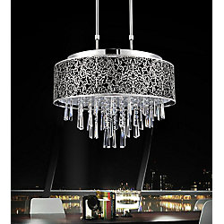 Tresemme 20-inch 8 Light Chandelier with Satin Nickel Finish