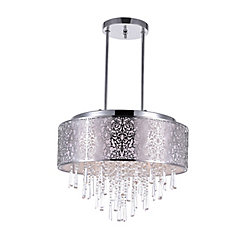 Tresemme 20 inch 8 Light Chandelier with Satin Nickel Finish