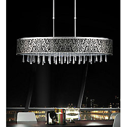 Tresemme 38-inch 7 Light Chandelier with Satin Nickel Finish