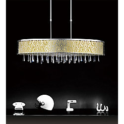 Tresemme 38 inch 7 Light Chandelier with Satin Nickel Finish