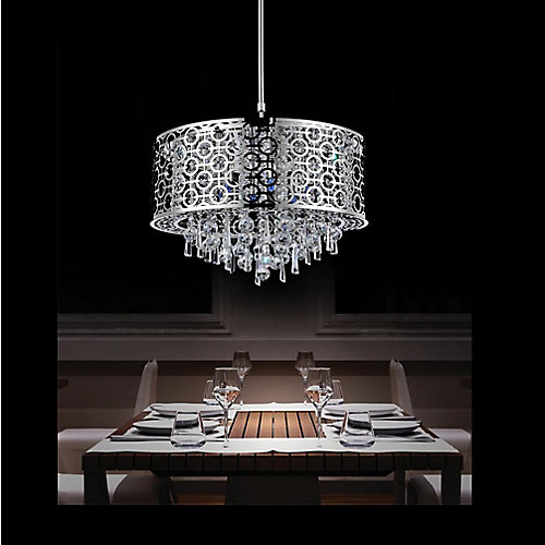 Galant 20 inch 6 Light Chandelier with Chrome Finish
