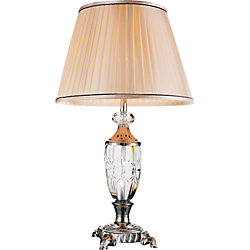 Yale 16 inch Single Light Table Lamp with Brushed Nickel Finish
