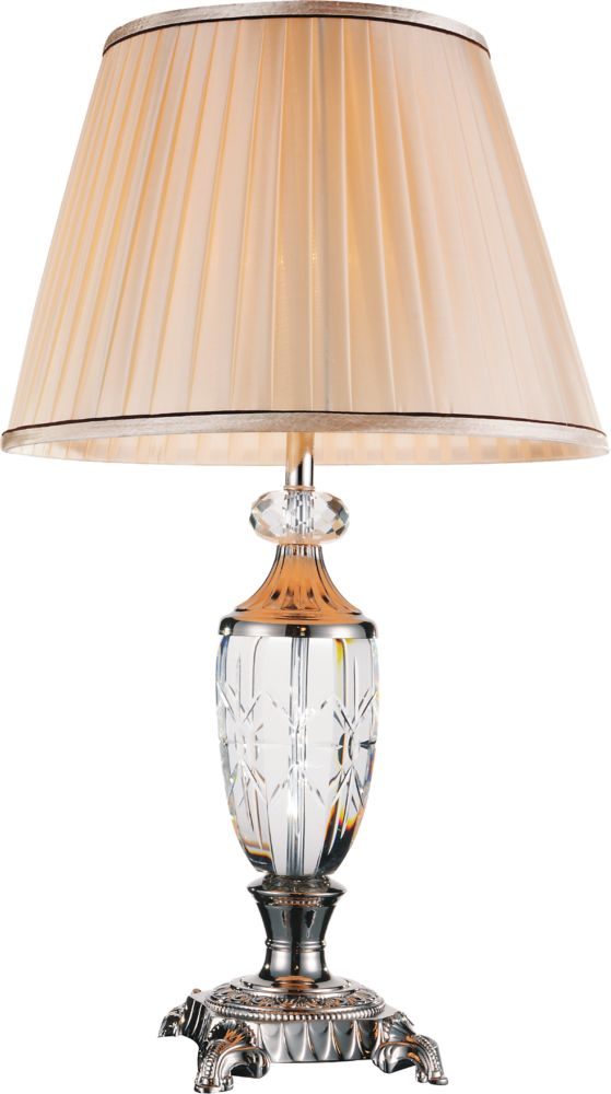 CWI Lighting Yale 16 inch Single Light Table Lamp with Brushed Nickel Finish