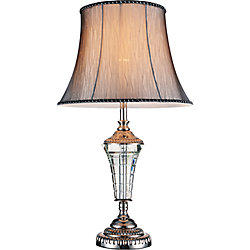 Yale 14 inch Single Light Table Lamp with Brushed Nickel Finish