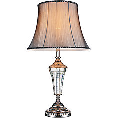 Cwi Lighting Yale 14 Inch Single Light Table Lamp With Brushed
