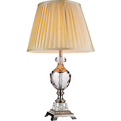 Yale 16-inch 1 Light Table Lamp with Brushed Nickel Finish