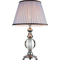 Yale 16 inch 1 Light Table Lamp with Brushed Nickel Finish