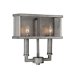 CWI Lighting Monroe 4 inch 2 Light Wall Sconce with Black Silver Finish
