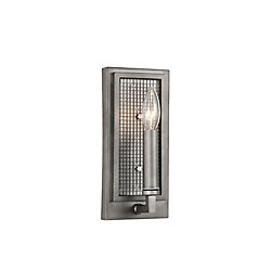 Monroe 4 inch 1 Light Wall Sconce with Black Silver Finish