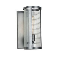 CWI Lighting Quinn 8 inch 1 Light Wall Sconce with Gray Finish