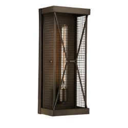 CWI Lighting Kali 5 inch Single Light Wall Sconce with Light Brown Finish
